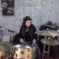 drea plays drums