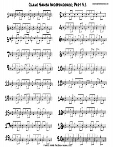 clave samba independence part three point one