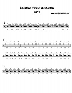 paradiddle triplet combinations part 1