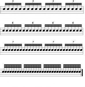 rhythmic control three illustration