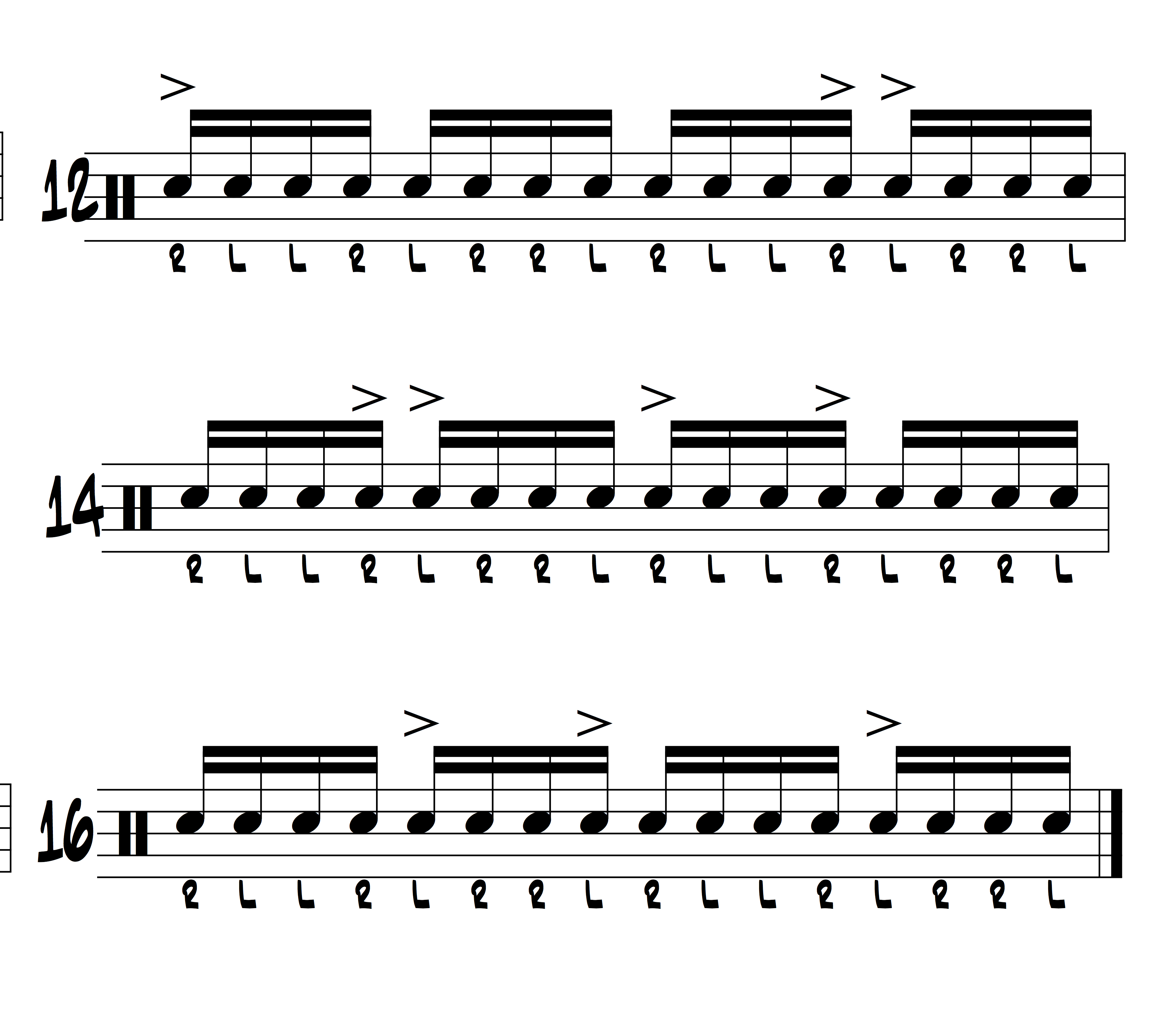 16 exercises to build facitlity with inverted paradiddles illustration