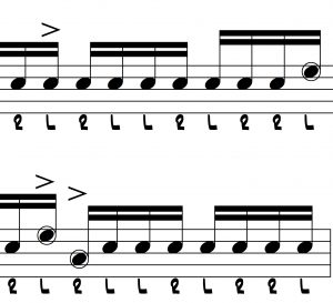 16 more exercises to build facility with inverted paradiddles illustration