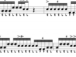 Drum Lick with Topsy Turvy Triplets
