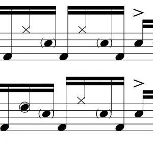 Linear Drumming Idea #1