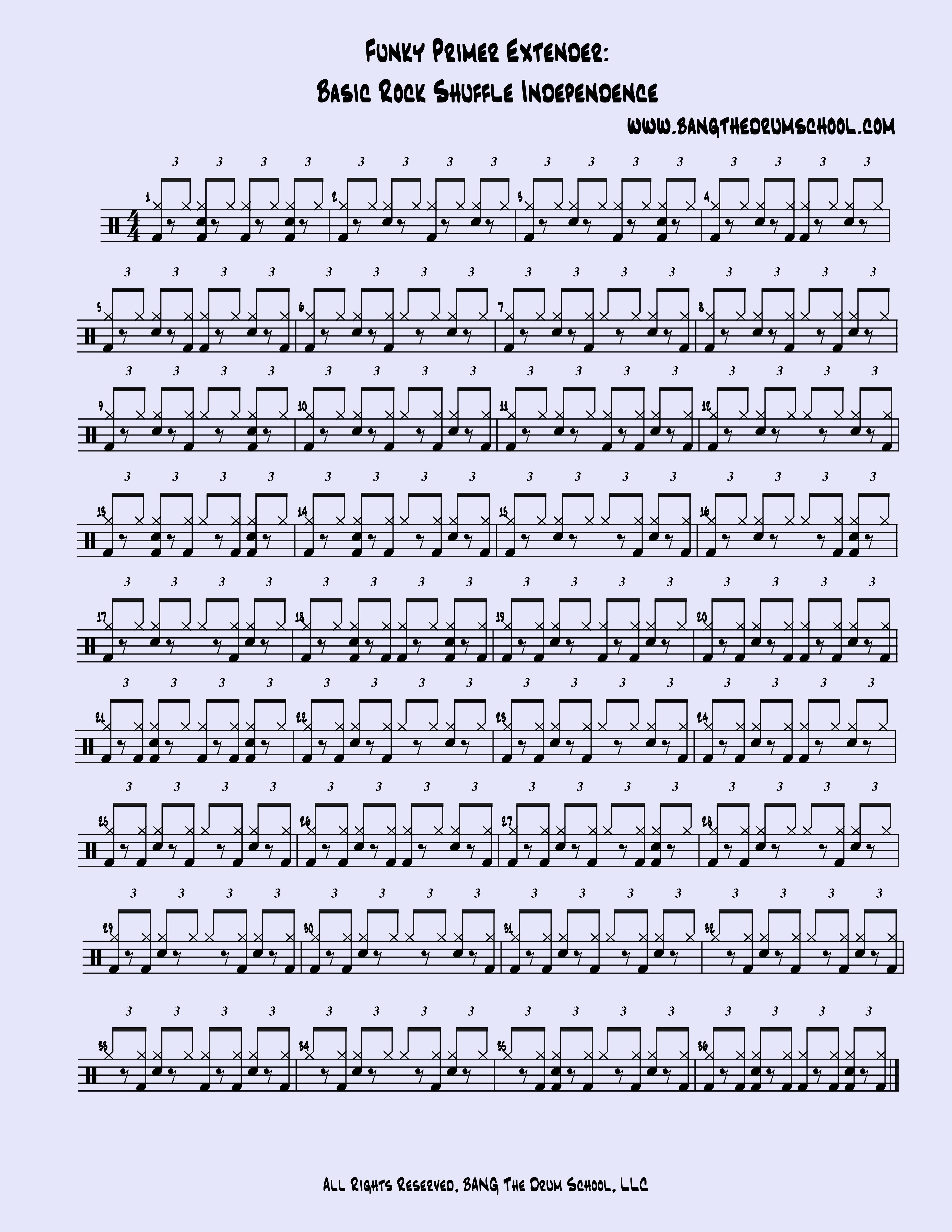 Funky Primer Extender 2: Basic Rock Shuffle Independence ...