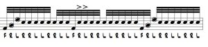 Blazing Double Stroke Roll Licks 1 Illustration