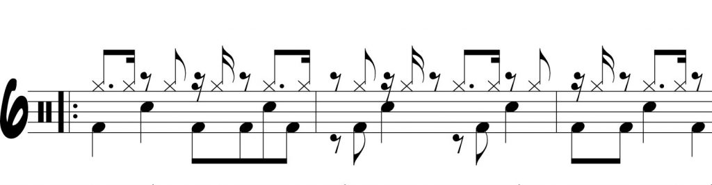 dotted eighth note sixteenth independence one