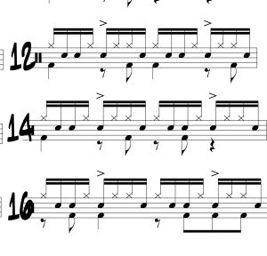 inverted paradiddle independence part one illustration
