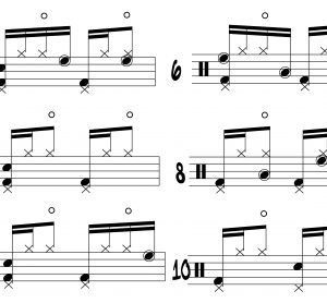 Drum Solo Ostinatos The Left Hand E And Part One Illustration