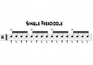 paradiddle cheat sheet one illustration