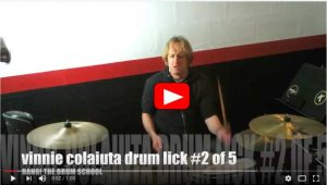 Five Vinnie Colaiuta Drum Licks Part Two Video