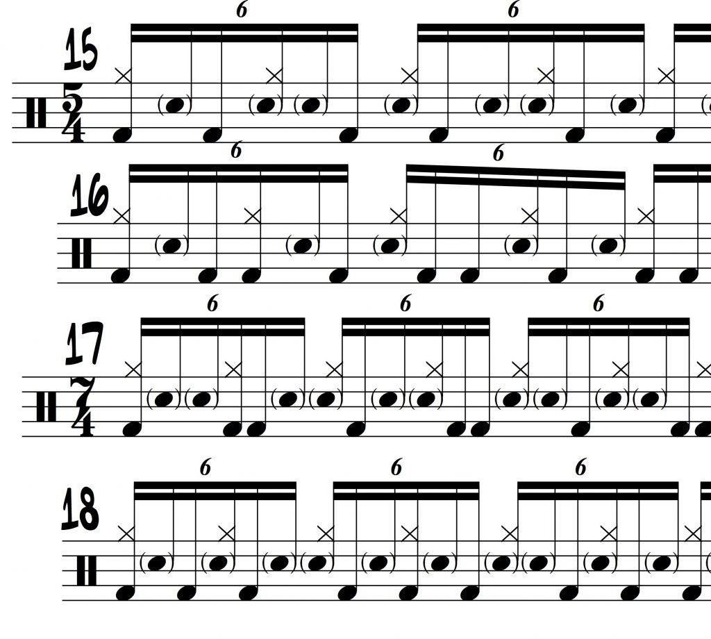 16th note triplet drum set independence