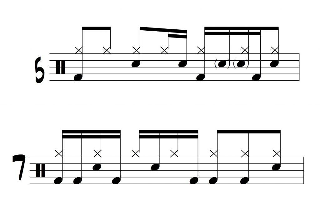 10 Drum Grooves in 7/8