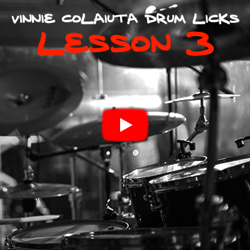 Vinnie Colaiuta Drum Licks Lesson 3