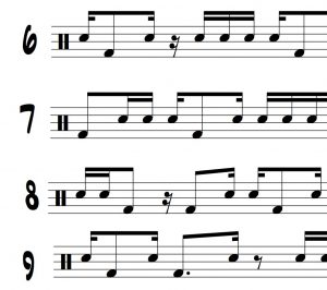"Funk Translations for Ted Reed's ""Syncopation"" part 8"