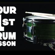 Your First Drum Lesson: 3 Beginner Drum Beats