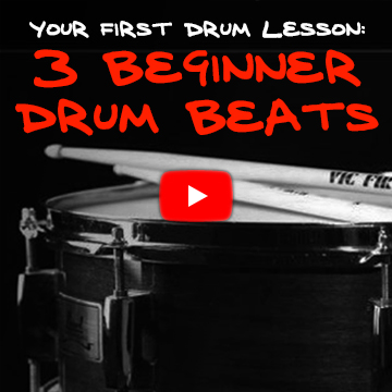 Your First Drum Lesson: 3 Beginner Drum Beats